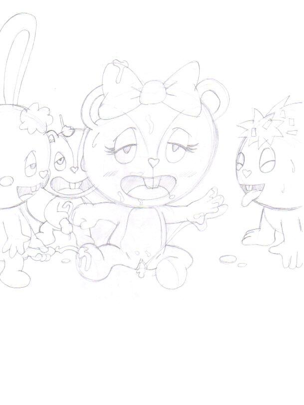 happy tree friends Furyou ni hamerarete jusei suru kyonyuu okaasan: the animation