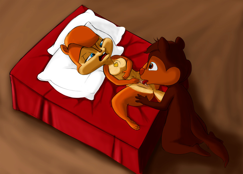 ian the chipmunks alvin and uncle Kiss x sis teddy bear